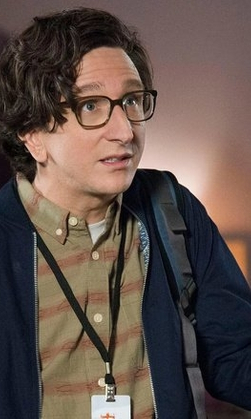 Paul Rust with Brave Soul  Nylon Lightweight Bomber Jacket in Love