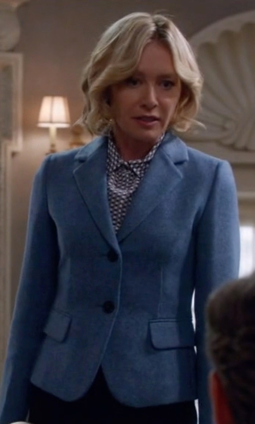 Portia de Rossi with Fabiana Filippi Single Breasted Blazer in Scandal