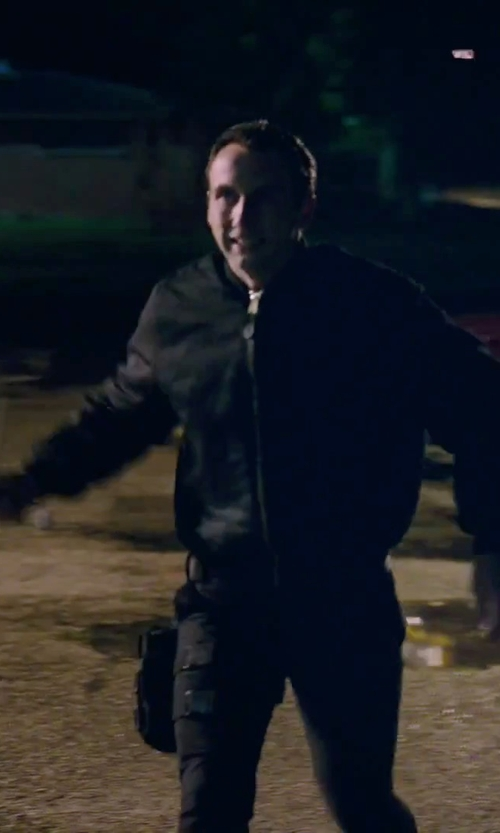 Unknown Actor with Y-3 Windbreaker Jacket in American Ultra