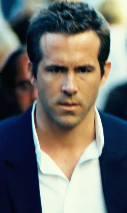 Ryan Reynolds with Department 5 Lapel Collar Blazer in Safe House