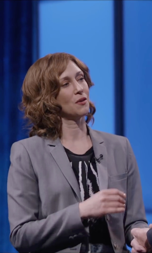Vera Farmiga with Banana Republic Gray Lightweight Wool Blazer in Special Correspondents