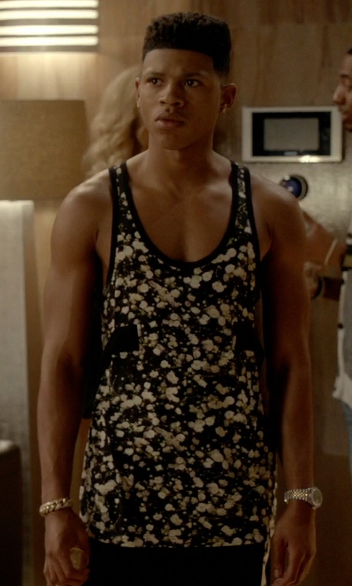 Bryshere Y. Gray with Givenchy Floral Tank Top in Empire