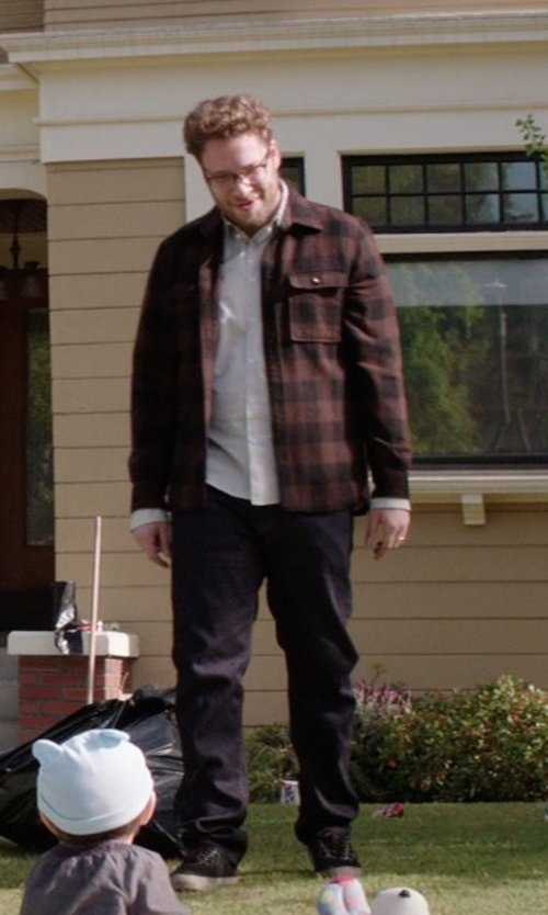 Seth Rogen with Pendleton Burnside Flannel Shirt in Neighbors