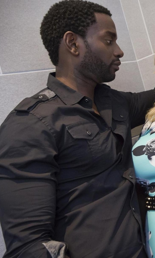 Mo McRae with Allsaints Pioneer Shirt in Empire