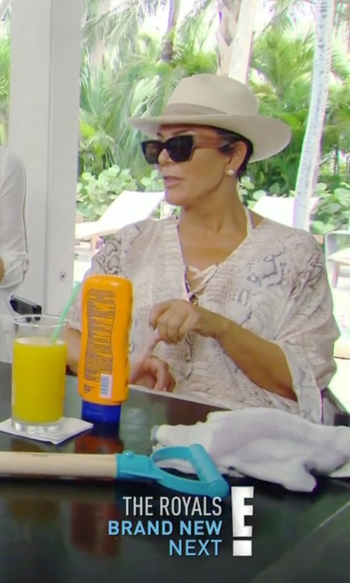 Kris Jenner with Vix Women's Serpent Maud Caftan in Keeping Up With The Kardashians