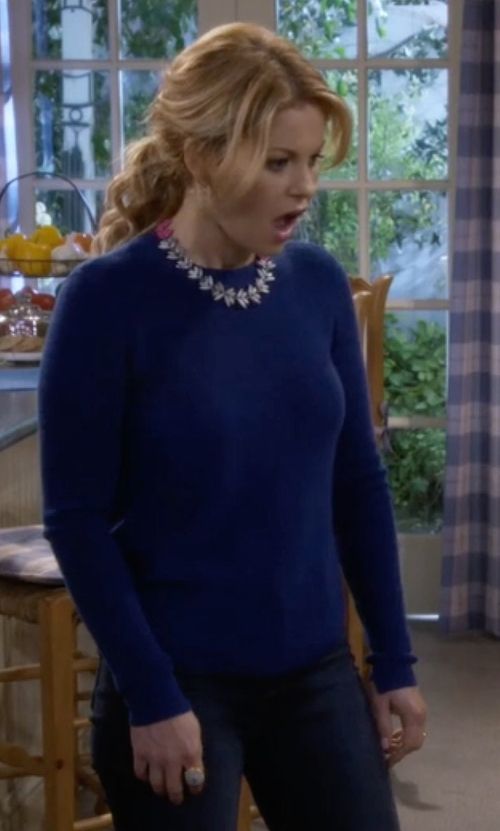 Candace Cameron Bure with Michael Michael Kors Cotton-Blend Sweater in Fuller House
