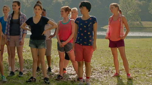 Alexis Knapp with American Eagle Outfitters Shorts in Pitch Perfect 2