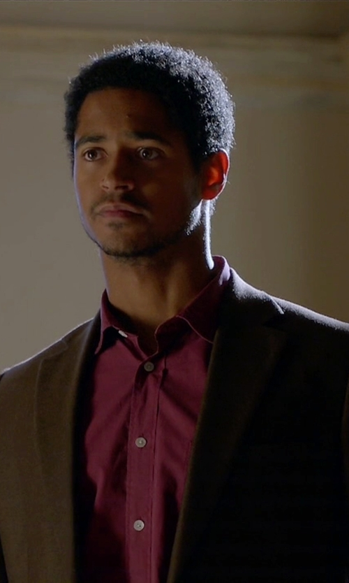 Alfred Enoch with Theory Slim-Fit Malcolm Wool Jacket in How To Get Away With Murder