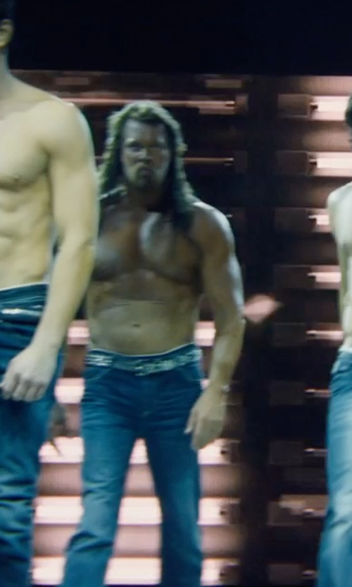 Kevin Nash with Fashion Destination Rhinestone Encrusted Cross Belt in Magic Mike XXL