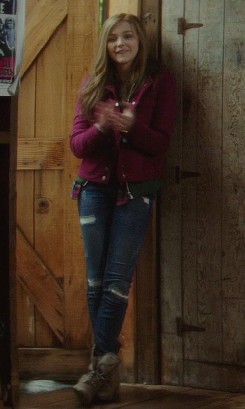"Chloë Grace Moretz with Current/Elliott ""The Stiletto"" Distressed Jeans in If I Stay"