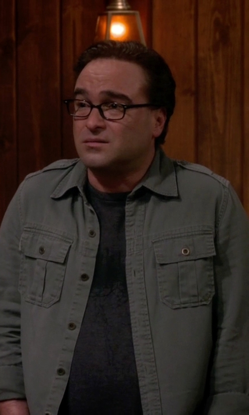 Johnny Galecki with Carhartt Weathered Canvas Shirt Jacket in The Big Bang Theory