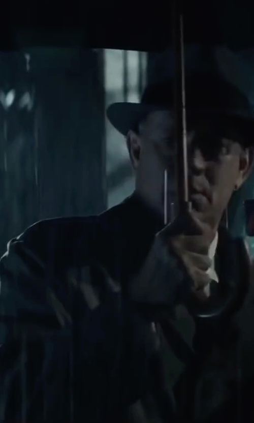 Tom Hanks with Burberry London 'Britton' Double Breasted Trench Coat in Bridge of Spies