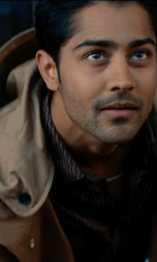 Manish Dayal with BGSD Men's 'Terrain' Hooded Field Jacket in The Hundred-Foot Journey