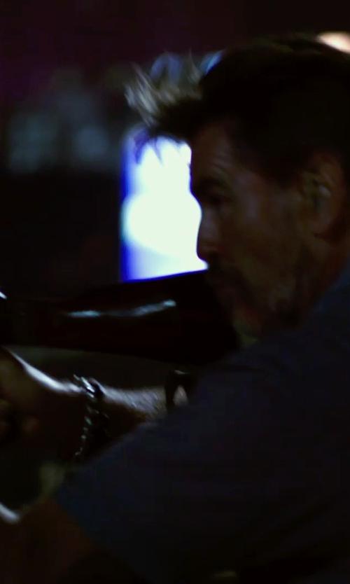 Pierce Brosnan with David Yurman Meteorite Curb Chain ID Bracelet in No Escape
