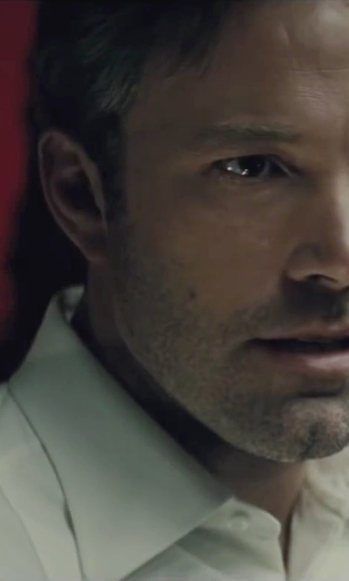 Ben Affleck with Gucci Custom Made White Dress Shirt in Batman v Superman: Dawn of Justice