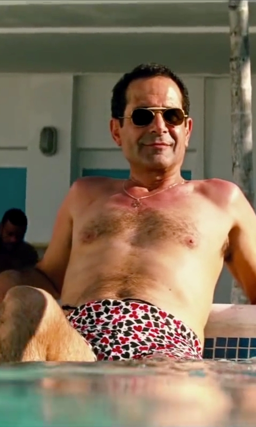 Tony Shalhoub with Parke & Ronen Men's Catalonia Check Swim Shorts in Pain & Gain