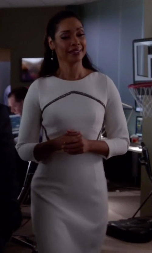Gina Torres with Velvet by Graham & Spencer Gini Stretch Jersey 3/4 Sleeve Dress in Suits