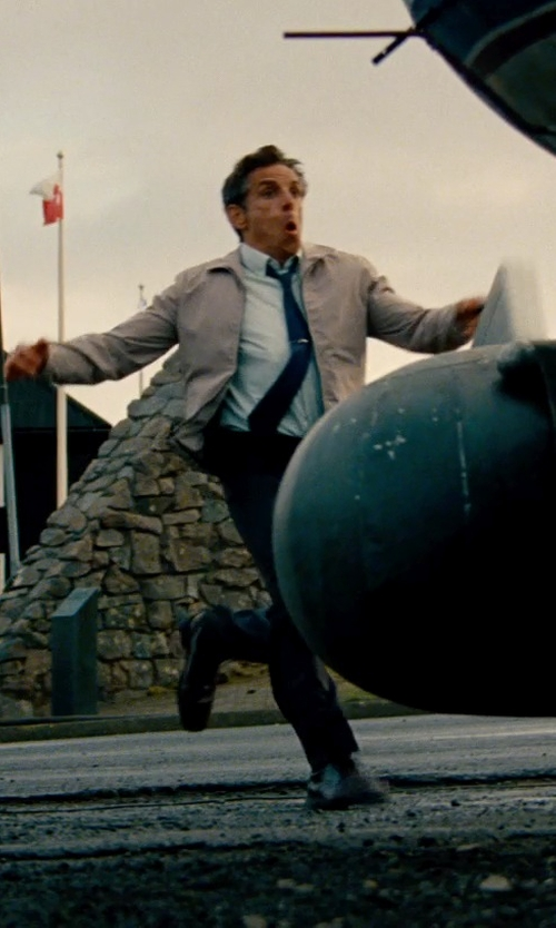 Ben Stiller with Kenneth Cole Reaction Ultra Slick Lace-Up Oxford Shoes in The Secret Life of Walter Mitty