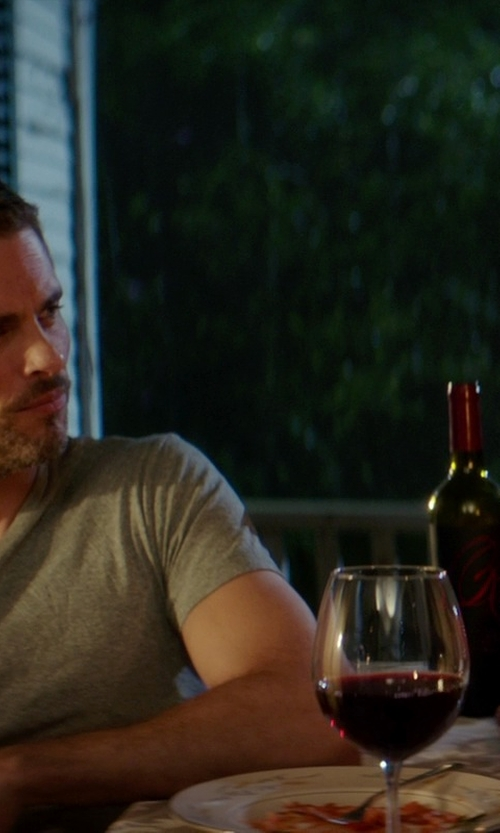 James Marsden with Raymond Collection Field Blend Red Wine in The Best of Me