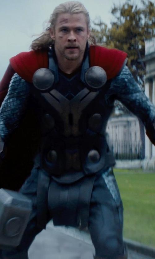 Chris Hemsworth with Wendy Partridge (Costume Designer) Custom Made Thor Costume in Thor: The Dark World