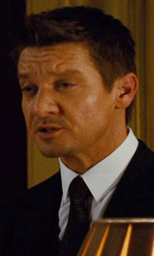 Jeremy Renner with Ralph Lauren Solid Silk Repp Tie in Mission: Impossible - Rogue Nation