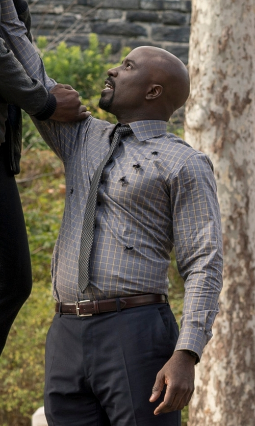 Mike Colter with Club Room Geo-Pattern Classic Tie in Marvel's Luke Cage