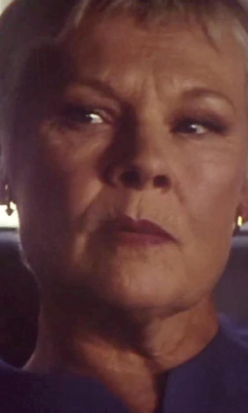 Judi Dench with Icecarats Tube Hoop Earrings in Tomorrow Never Dies