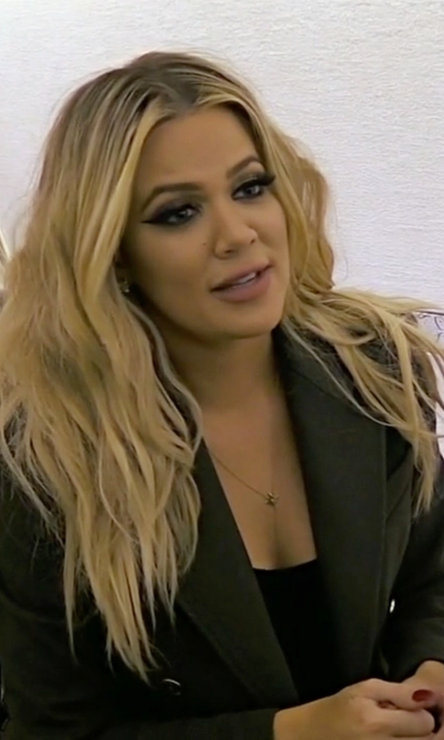 Khloe Kardashian with Pierre Balmain Double Breasted Long Coat in Keeping Up With The Kardashians