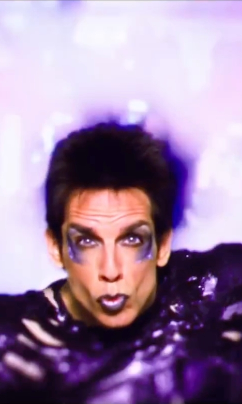 Ben Stiller with Leesa Evans (Costume Designer) Custom Made Purple Metallic Shirt in Zoolander 2