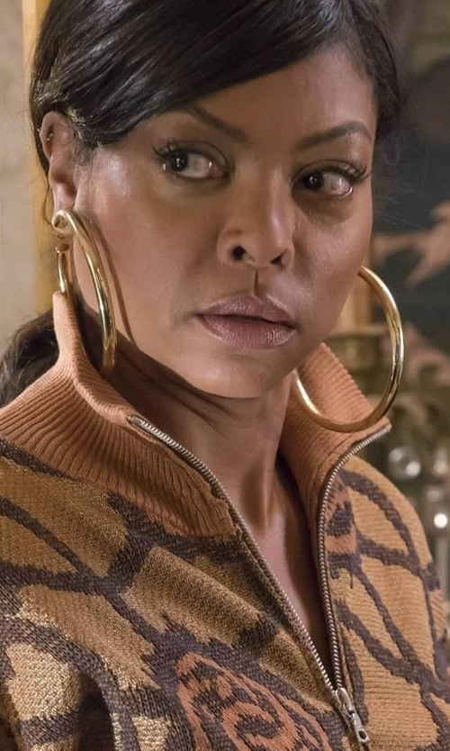 Taraji P. Henson with Jennifer Fisher Samira Hoop Earrings in Empire