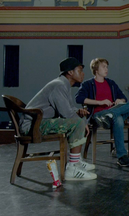 RJ Cyler with Adidas Originals Edberg 86 Trainers Sneakers in Me and Earl and the Dying Girl
