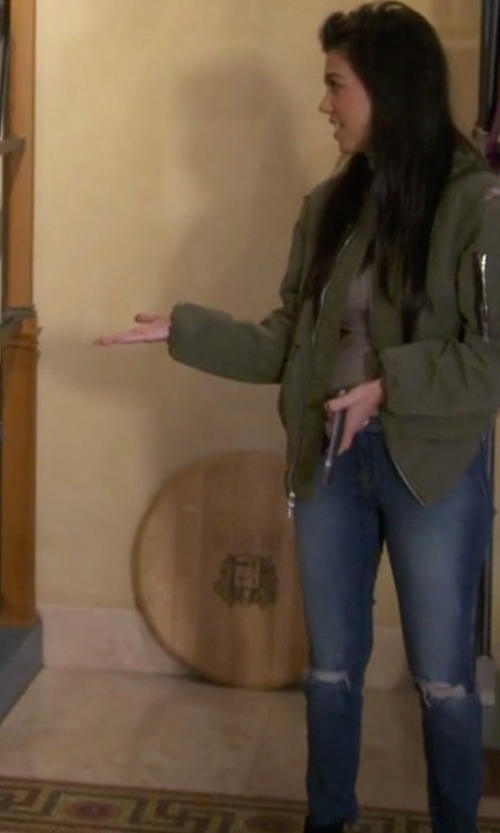 Kourtney Kardashian with AG Adriano Goldschmied Women's Legging Ankle Jeans in Keeping Up With The Kardashians