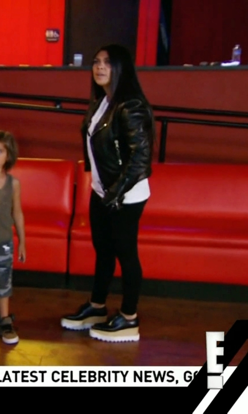 Kourtney Kardashian with Balenciaga Classic Moto Jacket in Keeping Up With The Kardashians