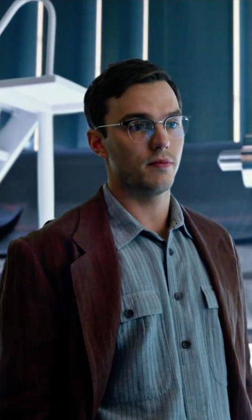 Nicholas Hoult with Nordstrom Classic Corduroy Blazer in X-Men: Apocalypse