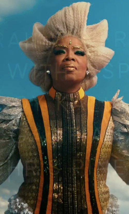 Oprah Winfrey with Paco Delgado (Costume Designer) Custom Made Ball Gown in A Wrinkle In Time