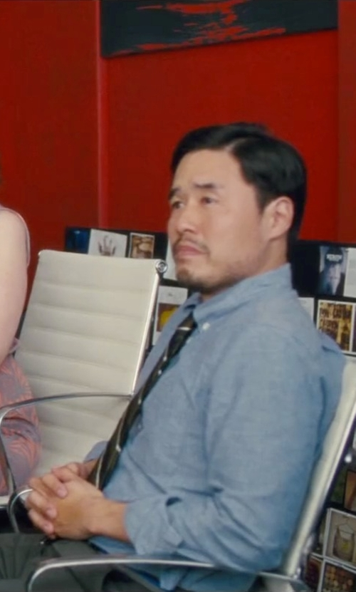 Randall Park with Brooks Brothers Madison Fit Linen Sport Shirt in Trainwreck