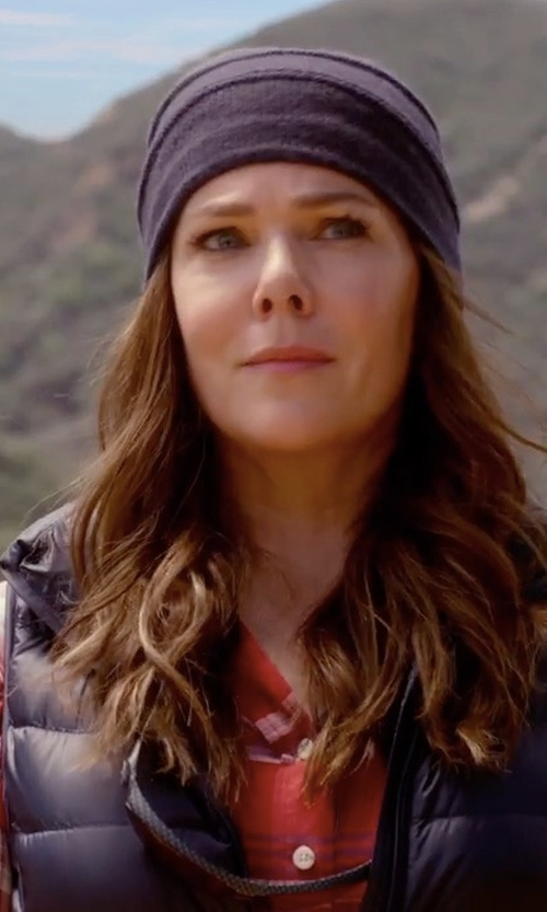Lauren Graham with Free People Wesley Plaid Top in Gilmore Girls: A Year in the Life