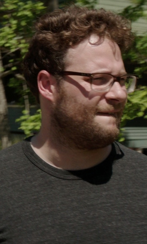 Seth Rogen with Vince Jersey Crewneck Tee, Heather Carbon in Neighbors