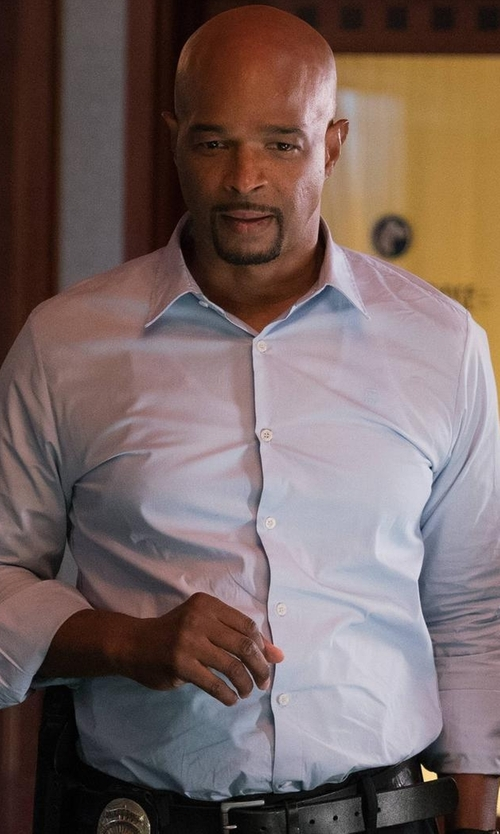 Damon Wayans with Ike Behar Regular-Fit Solid Dress Shirt in Lethal Weapon