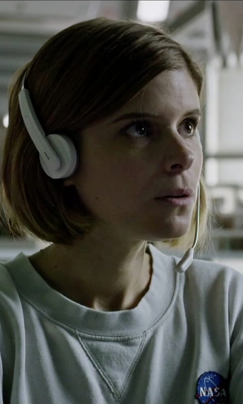 Kate Mara with Baja East Crew Neck Sweater in The Martian