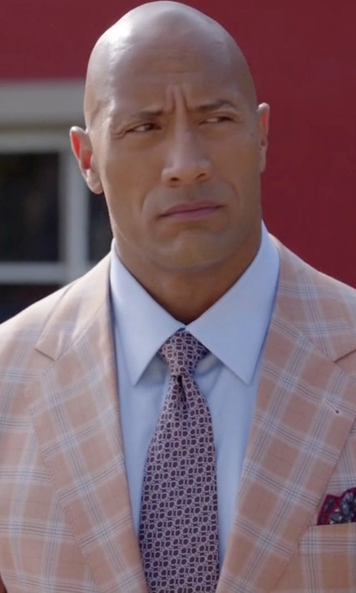 Dwayne Johnson with Stefano Ricci Neat Printed Silk Tie in Ballers
