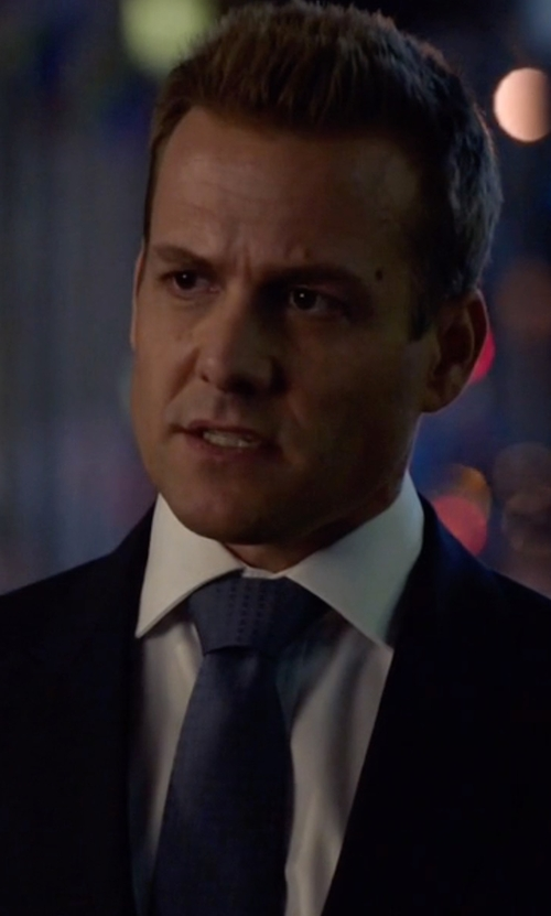 Gabriel Macht with Tom Ford Textured Solid Silk Tie in Suits