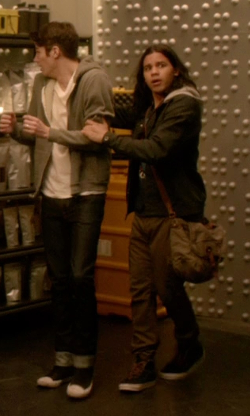 Carlos Valdes with Vans Sk8-Hi Reissue Sneakers in The Flash