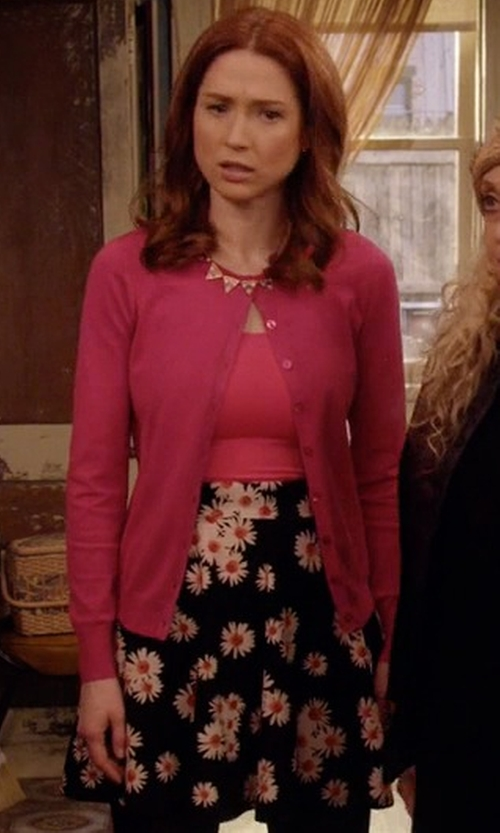 Ellie Kemper with Minimum High Waisted Floral Skirt in Unbreakable Kimmy Schmidt