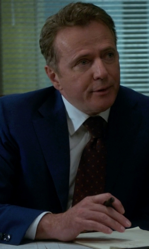 Aidan Quinn with Hugo Boss Wool Suit  in Elementary