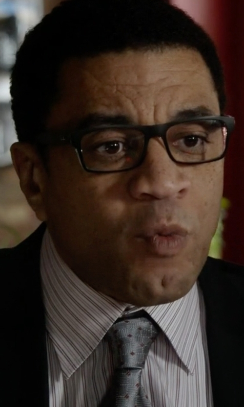 Harry Lennix with Canali Regular-Fit Striped Dress Shirt in The Blacklist