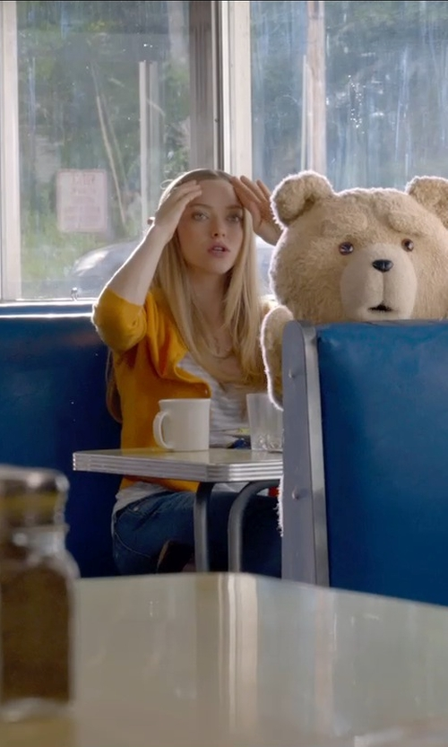 Amanda Seyfried with Joan Vass Striped Cotton Tank Top in Ted 2