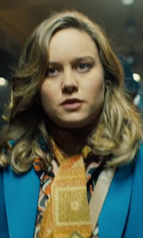 Brie Larson with Calvin Klein Two-Button Jacket in Free Fire