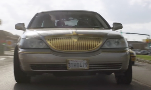 Jordan Peele with Lincoln 2007 Town Car Sedan in Keanu