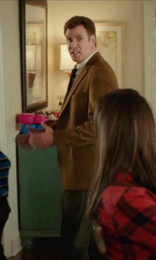 Will Ferrell with Les Hommes Stripe Tie in Daddy's Home
